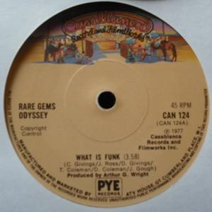 Single Cover Rare Gems Odyssey - What Is Funk