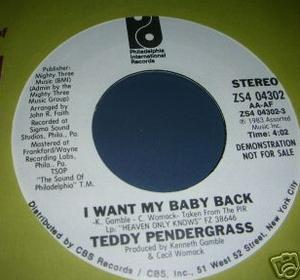 Single Cover Teddy - I Want My Baby Back Pendergrass