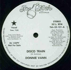 Single Cover Donnie - Disco Train Vann