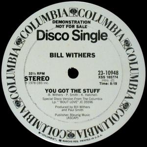 Single Cover Bill - You Got The Stuff Withers