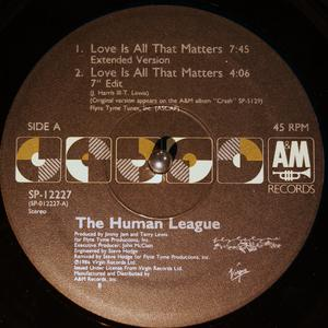 Single Cover Human League - Love Is All That Matters