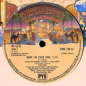 Single Cover The - Baby I'm Your Fool Pips