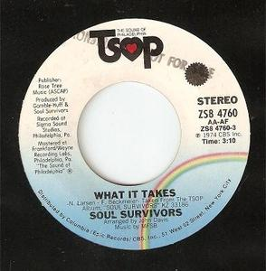 Single Cover Soul Survivors - What It Takes