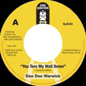 Single Cover Dee Dee - You Tore My Wall Down Warwick
