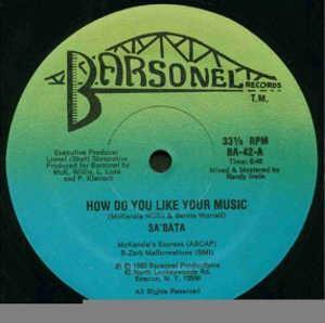 Single Cover Sa'bata - How Do You Like Your Music