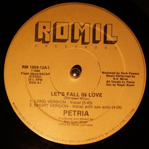 Single Cover Petria - Let's Fall In Love