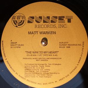 Single Cover Matt - The Way To My Heart Warren