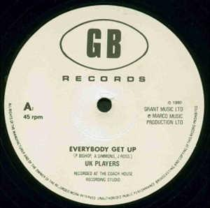Single Cover Uk Players - Everybody Get Up