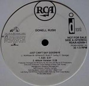 Single Cover Donell - Just Can't Say Goodbye Rush