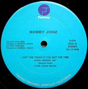 Single Cover Bobby - I Got The Touch If You Got The Time Jonz