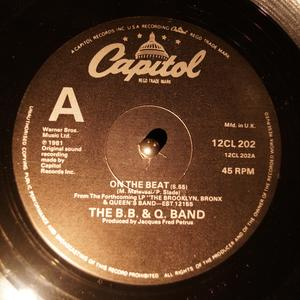 Single Cover B B & Q Band - On The Beat