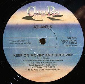 Single Cover Atlantis - Keep On Moving And Grooving