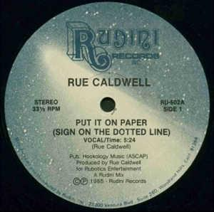Single Cover Rue - Put It On Paper (sign On The Dotted Line) Caldwell
