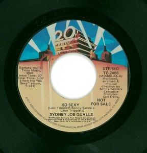 Single Cover Sidney Joe - So Sexy Qualls