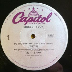 Single Cover Moses - Do You Want My Love Tyson