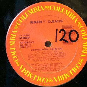 Single Cover Rainy - Lowdown So & So Davis