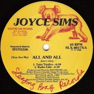 Single Cover Joyce - (you Are My) All And All Sims