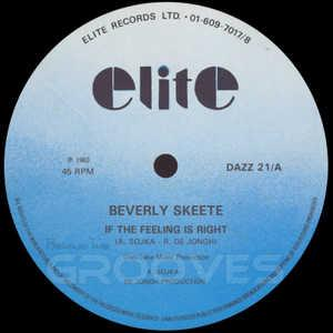 Single Cover Beverly - If The Feeling Is Right Skeete