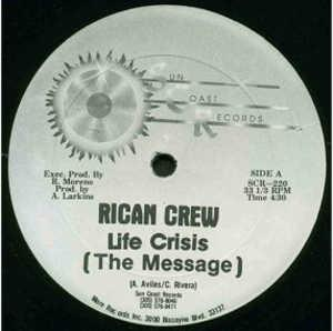 Single Cover Rican Crew - Life Crisis (the Message)