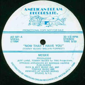 Single Cover Mcgee - Now That I Have You