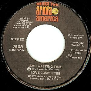 Single Cover Love Committee - Am I Wasting Time