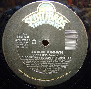 Single Cover James - Static Brown