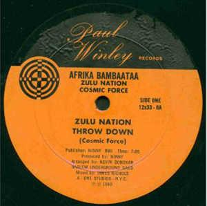 Single Cover Afrika - Thrown Down (feat. Zulu Nation) Bambaataa