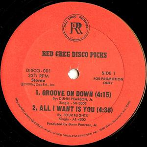 Single Cover Dunn - Red Greg Disco Picks Pearson Jr