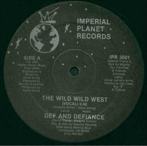 Single Cover Def And Defiance - The Wild Wild West