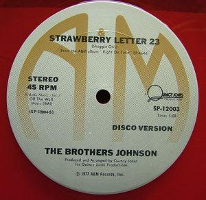 Single Cover The - Strawberry Letter 23 Brothers Johnson