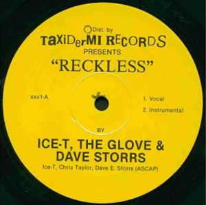 Single Cover The Glove And Dave Storrs - Reckless Ice-t