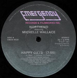 Single Cover Northend - Happy Days (feat. M. Wallace)