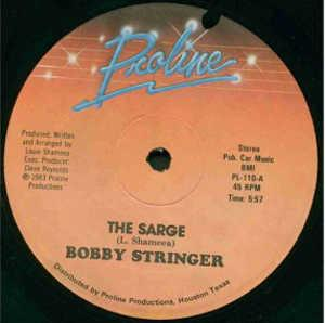 Single Cover Bobby - The Sarge Stringer