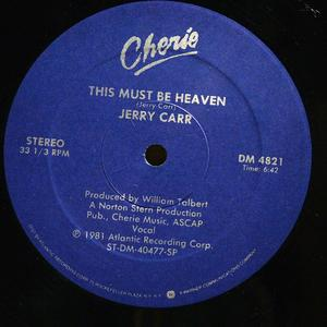 Single Cover Jerry - This Must Be Heaven Carr