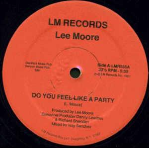 Single Cover Lee - Do You Feel Like A Party Moore