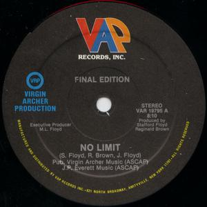 Single Cover Final Edition - No Limit