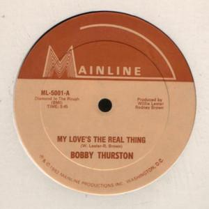 Single Cover Bobby - My Love's The Real Thing Thurston