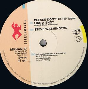 Single Cover Steve - Please Don't Go Washington