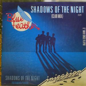 Single Cover Blue Feather - Shadows Of The Night
