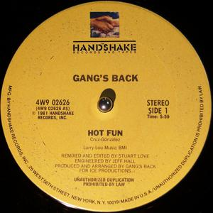 Single Cover Gang's Back - Hot Fun