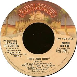 Single Cover Jeannie - Hit And Run Reynolds