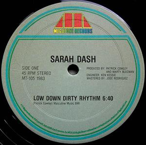 Single Cover Sarah - Low Down Dirty Rhythm Dash