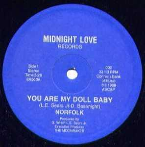 Single Cover Norfolk - You Are My Doll Baby