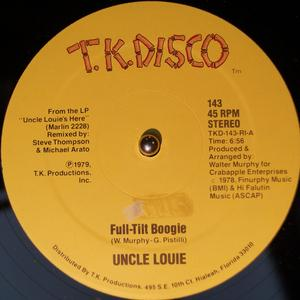 Single Cover Uncle Louie - Full-tilt Boogie