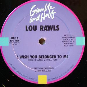Single Cover Lou - I Wish You Belounged To Me Rawls