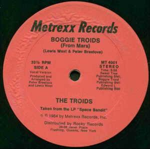 Single Cover The - Boogie Troids (from Mars) Troids