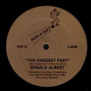 Single Cover Donald - The Hardest Part Albert