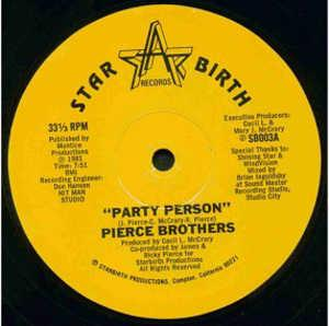 Single Cover Pierce Brothers - Party Person