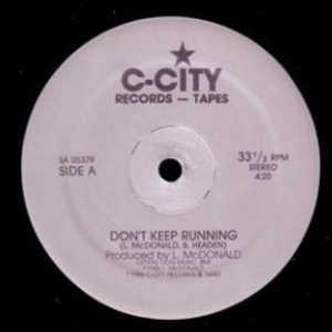 Single Cover L. Mcdonald - Don't Keep Running