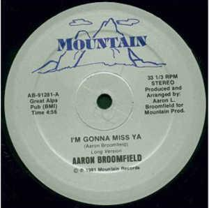 Single Cover Aaron - I'm Gonna Miss Ya Broomfield